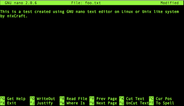GNU nano is a simple terminal-based text editor for Linux/Unix