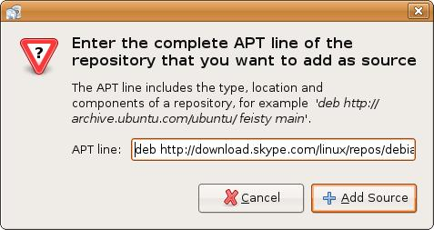 Ubuntu Linux download and install skype