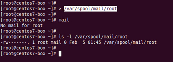 How to delete all root mail command in Linux or Unix