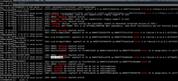 Fig.01: Linux / Unix egrep Command Search Multiple Words Demo Output