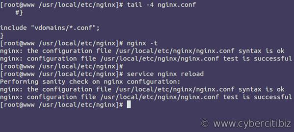 Nginx VirtualHost aka server block config