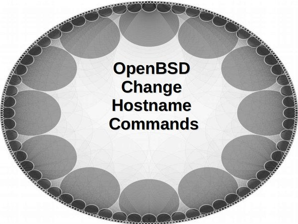 OpenBSD Change Hostname Commands