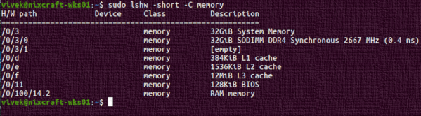 How to find the frequency and type of my current RAM in Linux