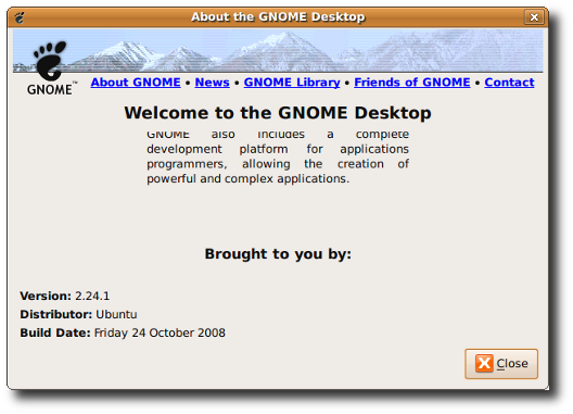 Fig.01: Find Out The GNOME Version