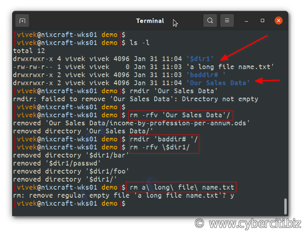 Linux Delete Folder Recursively Command