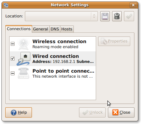 Network Administration Tool main window