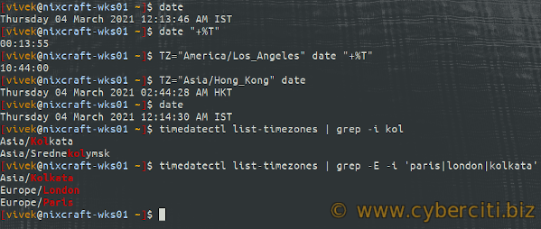 TZ and timedatectl timezones on Linux