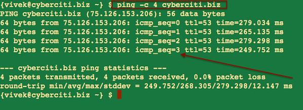 UNIX ping Command Examples - nixCraft