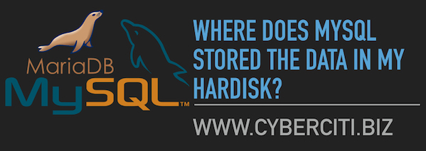 Linux/unix: Where does MySQL stored the data in my harddisk?