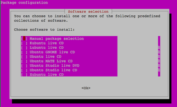 Fig.03: Ubuntu Linux tasksel command in action