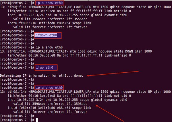 Restart Network Interface Using Command Lines in Linux