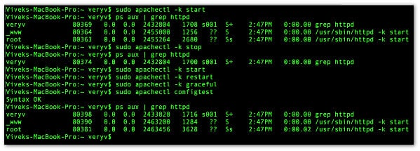 Fig.01: apachectl in action on macOS