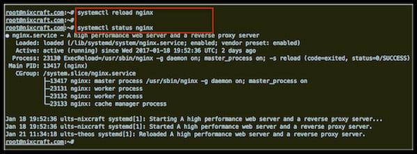 Linux: Restart Nginx WebServer - nixCraft