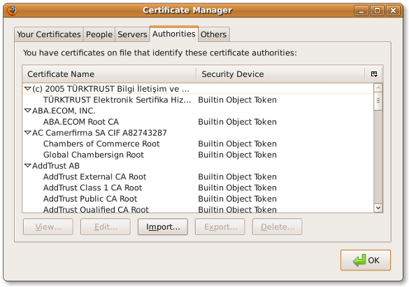 Fig.02: Firefox Install / Import CA Certificate