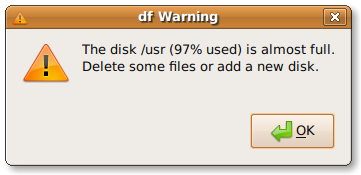 DF GUI Warning Notification