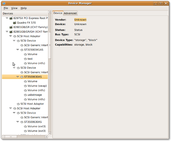 Fig.01: Ubuntu Linux Device Manager