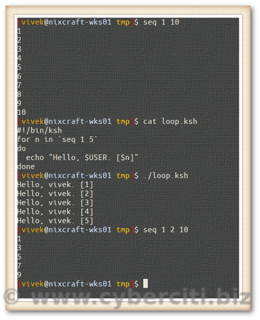 How To Unix For Loop 1 to 100 Numbers