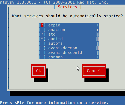 Linux Default Services Which Are Enabled At Boot