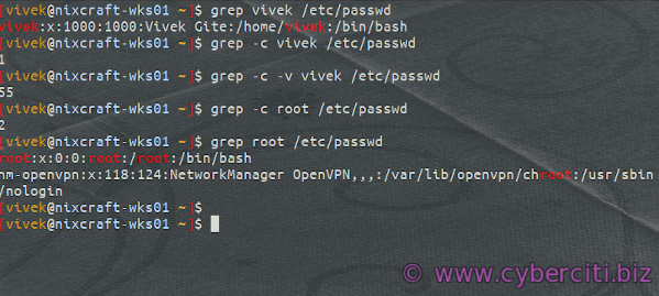 Grep Count Lines If a String or Word Matches on Linux or Unix System