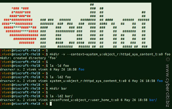 How to Create a Directory in Linux with mkdir Command with SELinux