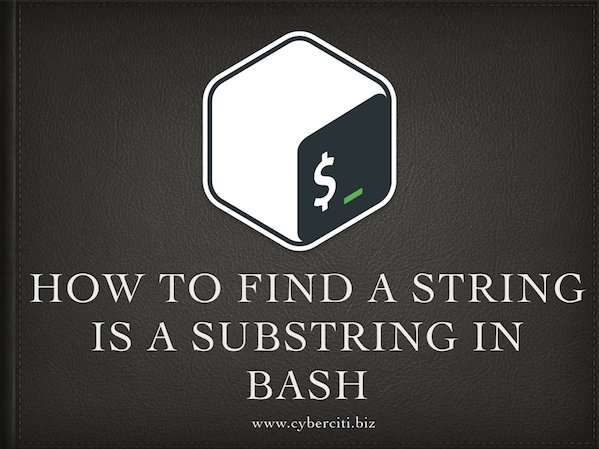 How to find a string is a substring in bash