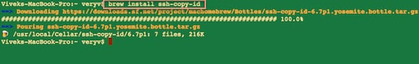 Fig.01: Install ssh-copy-id on a OS X Unix systems