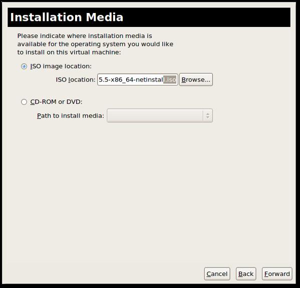 Fig.06: Local media installation via CDROM or ISO image