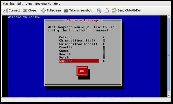Fig.11: KVM - guest operating system installation procedures started using vnc