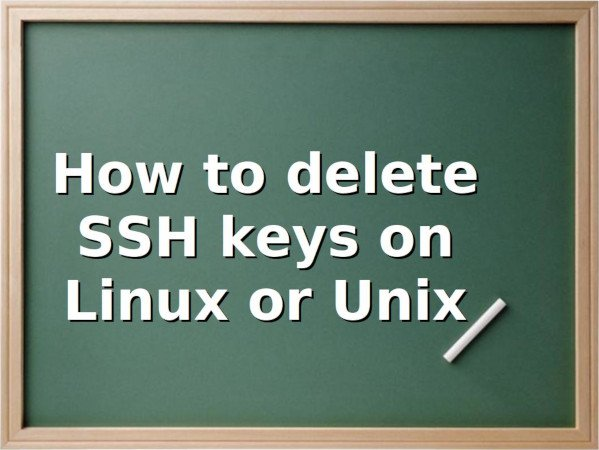 Unix or Linux delete SSH Keys command