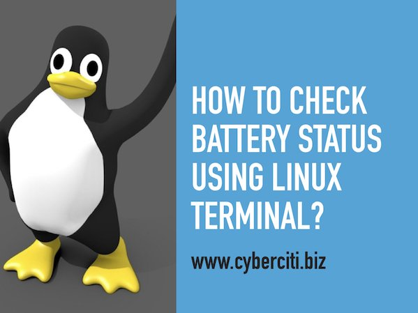 command line How to check battery status using terminal