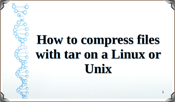 How to compress files with tar command on Linux/Unix - nixCraft