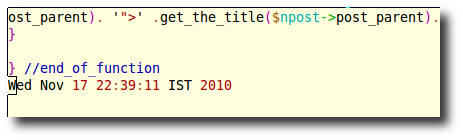 Fig.01: Insert date and time into Vim