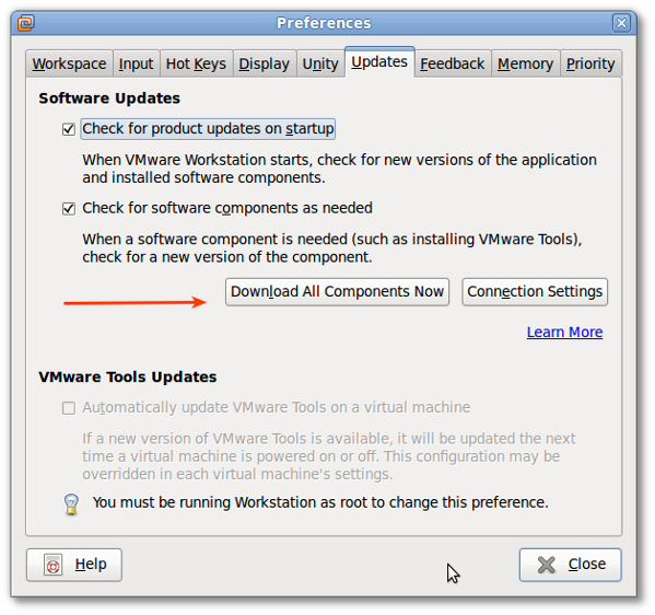 Fig.01: Install VMware Tools with Software Updates