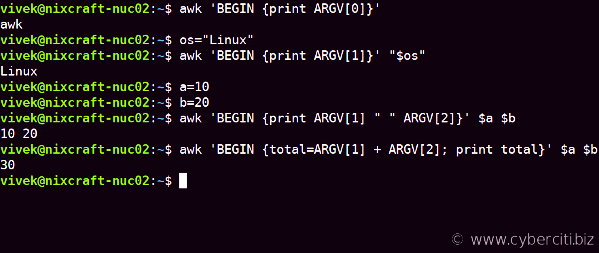 How to Allow Awk to Use Shell Variables