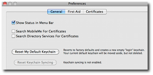 Fig.02: Apple OS X Keychain utility