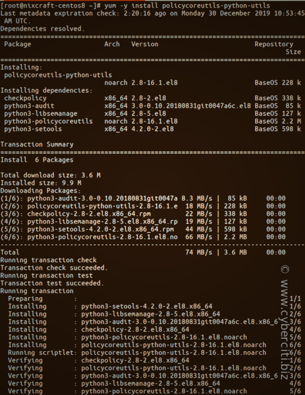 semanage SELinux Command Not Found and how to install semanage in RHEL or CentOS