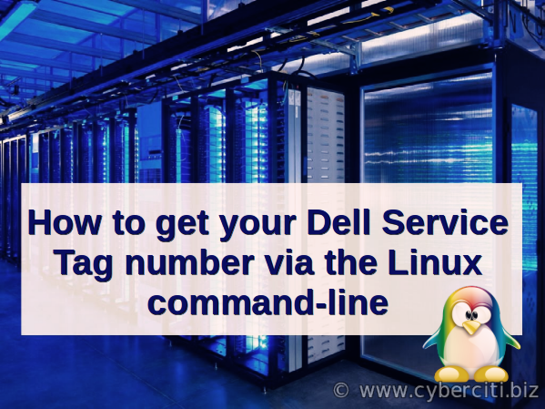 Linux Find Out Dell Service Tag Command