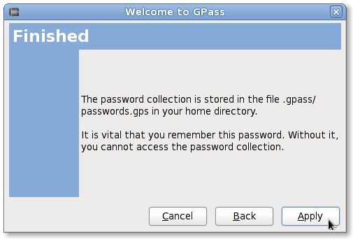 Fig.03: Passwords are stored in ~/.gpass/