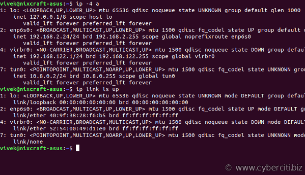 Linux ip command examples for sysadmin