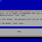 Debian Linux Mysql 5.1 Install and Admin Root User Password Setup