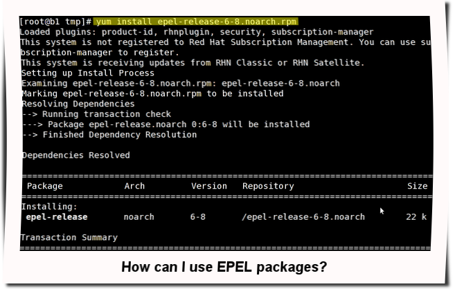 Fig.01: HowTo: Enable EPEL Repository on CentOS/RHEL/SL/Fedora Linux