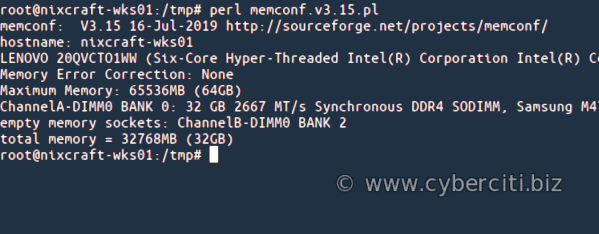 Linux Find Out Maximum RAM Supported Command