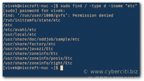 How to find a folder in Linux using the command line - nixCraft