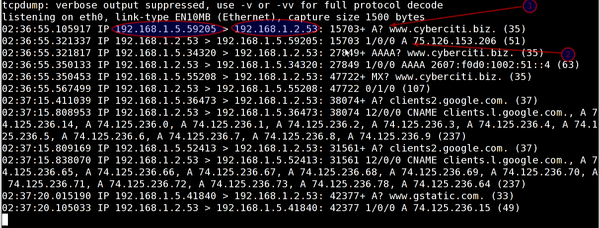 Unix / Linux: Tcpdump Monitor UDP Port 53 DNS Traffic
