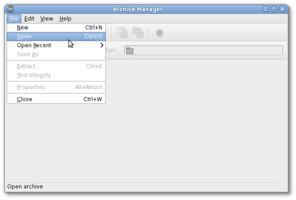 Linux: Open Files With an Archive Manager