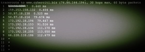 Fig.02: Unix and Linux speedup traceroute command