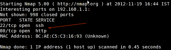 Fig.01: nmap command output