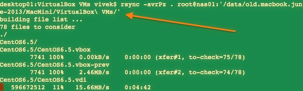 Fig.01:  rsync over ssh when directory names have spaces on local or remote server