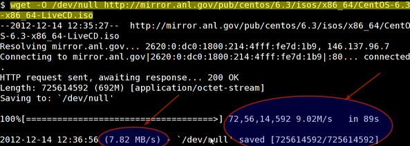 Linux / Unix: Test Internet Connection Speed From SSH Command - nixCraft