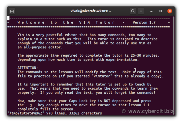 How to Save a File in Vim or Vi and Quit the Editor